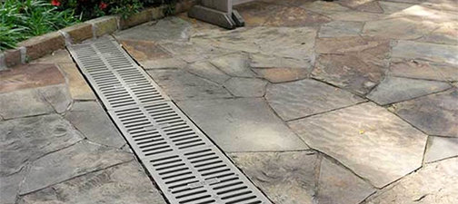 Drainage Landscapers Contractors Yard French Drain Company ... on Backyard Landscaping Companies Near Me id=85028